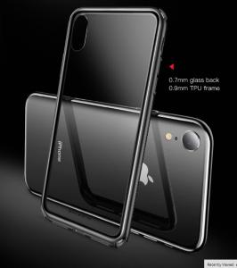 Ốp viền dẻo, nắp lưng cường lực Baseus gù góc iPhone Xs Max
